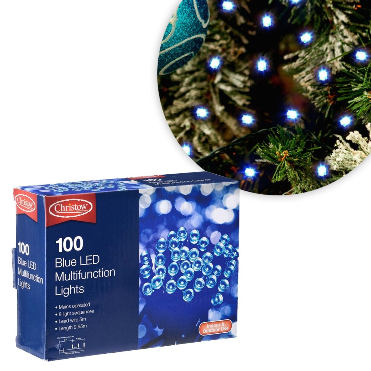 Christow Blue Led Multi Function Christmas Lights