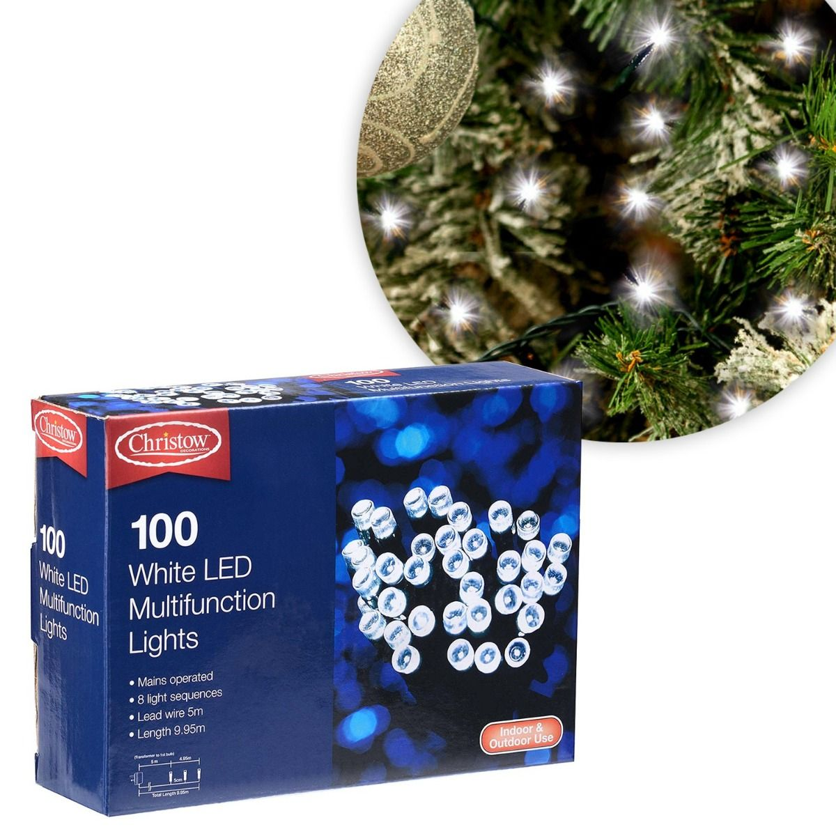 Christow Bright White Led Multi Function Christmas Lights