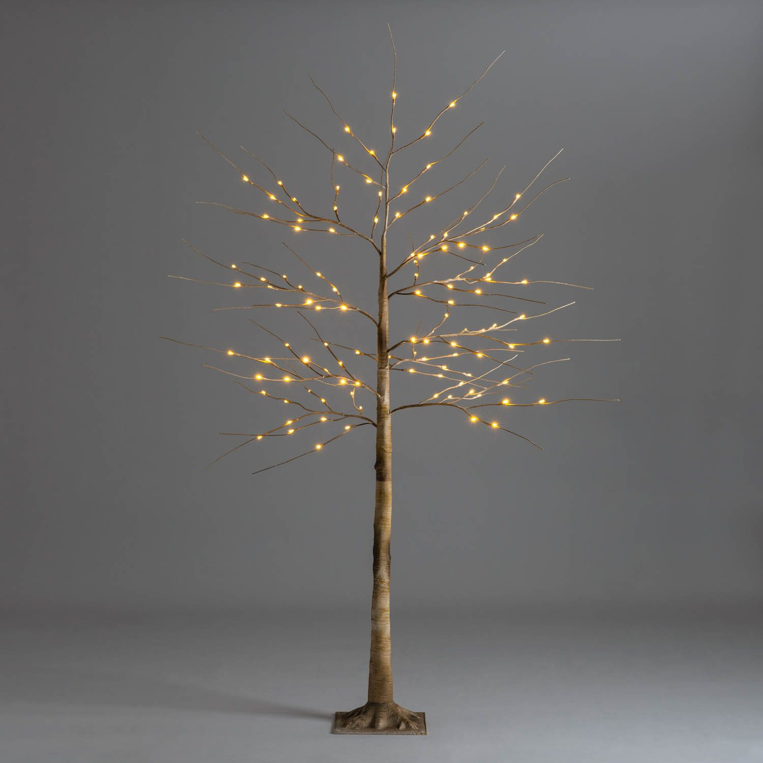 Brown Christmas Birch Tree With Led Lights 4ft 5ft 6ft Christow